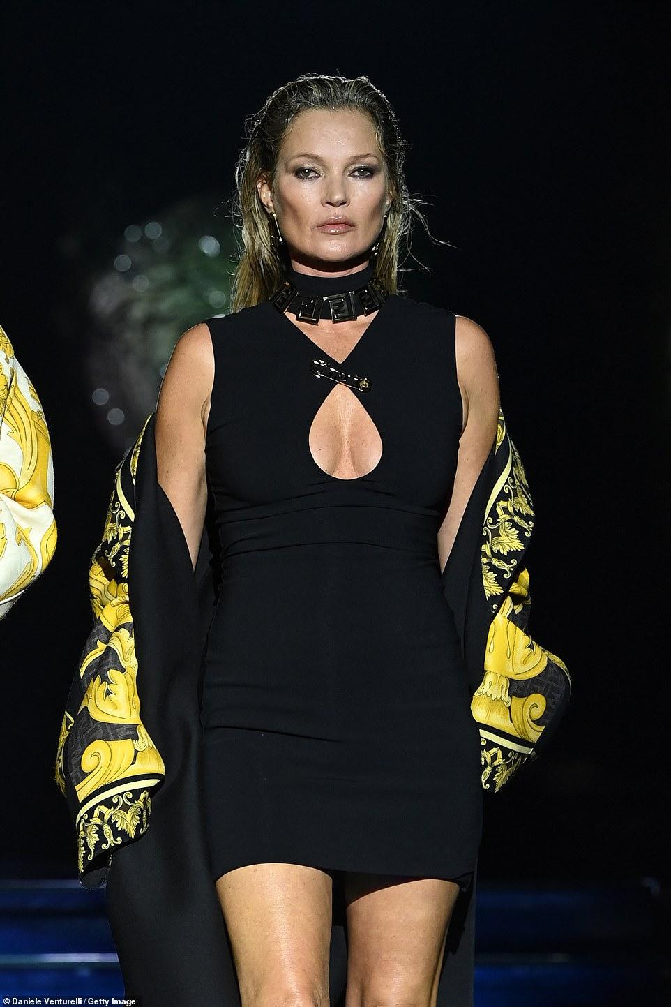 Supermodel: Kate Moss also exhibited her modelling expertise
