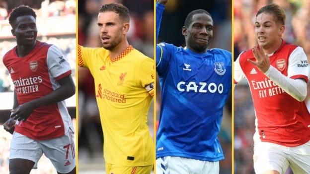 Bukayo Saka, Jordan Henderson, Abdoulaye Doucoure, Emile Smith Rowe