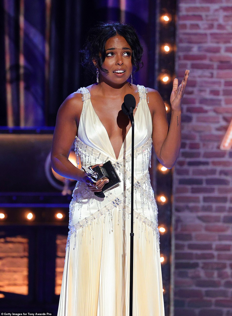 Adrienne wins:Adrienne Warren won Best Performance from a Leading Actress in a Musical for her portrayal of Tina Turner in Tina: The Tina Turner Musical