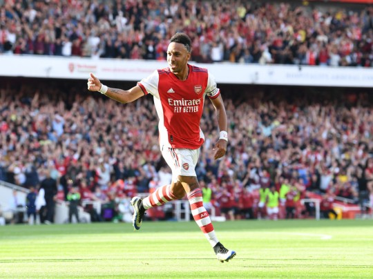 Captain Aubameyang put in a top performance for the Gunners