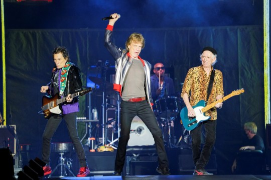 The Rolling Stones kick off their U.S. tour, a month after the death of drummer Charlie Watts, in St. Louis, Missouri, U.S. September 26, 2021. REUTERS/Lawrence Bryant