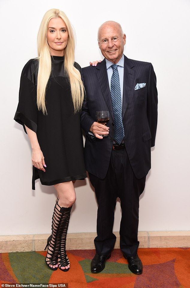 In hot water: Girardi is currently under investigation amid accusations he 'misappropriated at least $2 million' meant for the families of those killed in the Lion Air Flight 610 crash in Indonesia (He and Erika Jayne pictured in 2016 above)