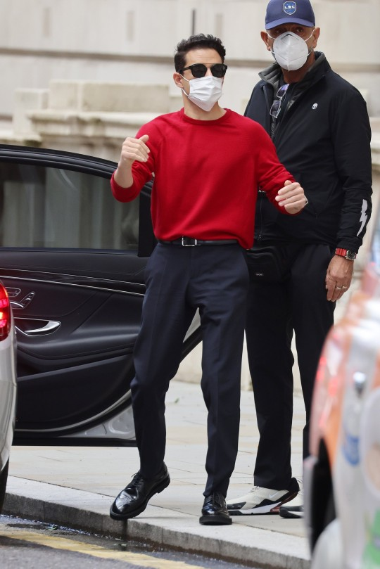 Rami Malek seen outside the Corinthia Hotel whilst promoting new Bond Movie 'No Time To Die' in London