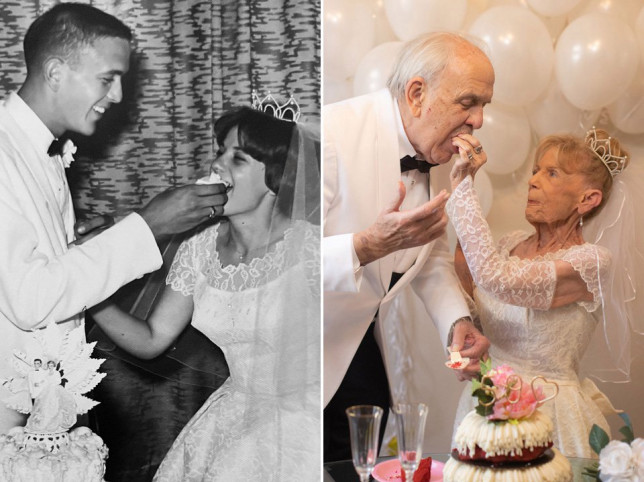 79-year-old grandparents recreate their wedding pictures in adorable photoshoot