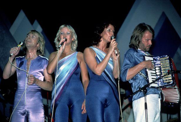 ABBA (Bjorn Ulvaeus, Agnetha Faltskog, Anni-Frid Lyngstad and Benny Andersson) circa 1979