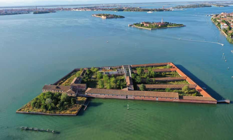 Splendid isolation … Lazzaretto Vecchio island, Venice Lagoon, Italy.