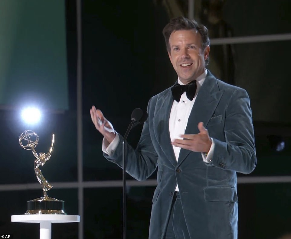 Big winner: Ted Lasso won big at Sunday's Emmys with awards for Outstanding Comedy Series and a Lead Actor prize for star Jason Sudeikis