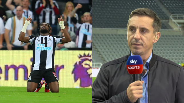 Gary Neville was impressed by Newcastle United star Allan Saint-Maximin