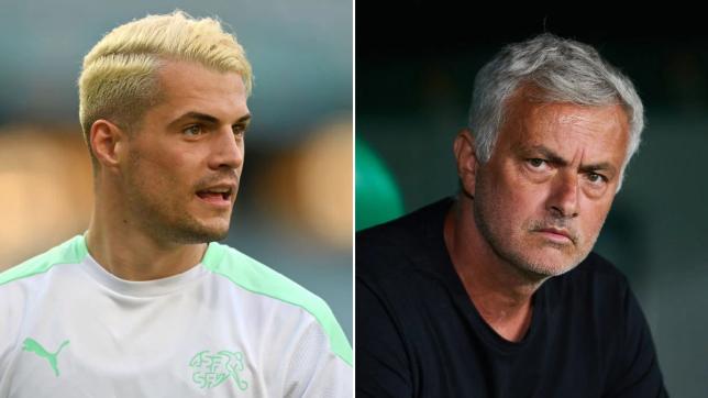 Jose Mourinho has urged Arsenal star Granit Xhaka to get the Covid-19 jab