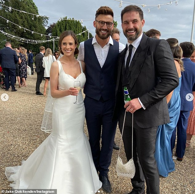 I do? Camilla Thurlow and Jamie Jewitt appear to have tied the know in a secret wedding ceremony after photos emerged on their palJake Quickenden's Instagram on Thursday