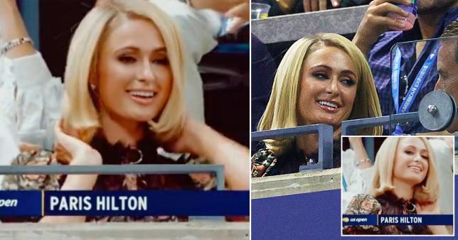 Paris Hilton at the US Open men's semi-final