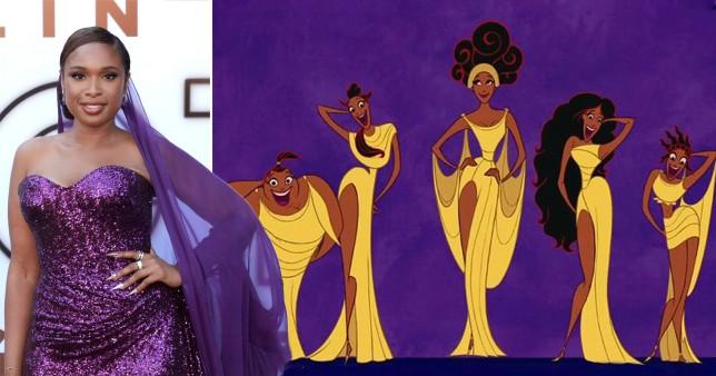Jennifer Hudson and the Muses in Disney's Hercules