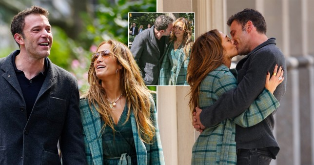 Jennifer Lopez and Ben Affleck share sweet kisses during romantic stroll in New York