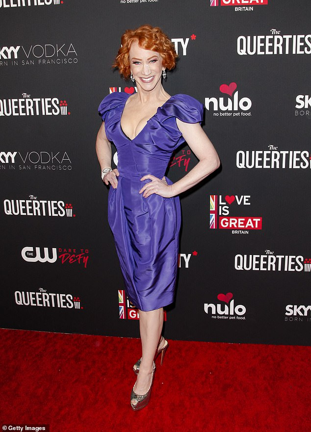 Difficult:Kathy Griffin is still suffering from 'vocal chord issues' amid her cancer treatment. Seen in 2020