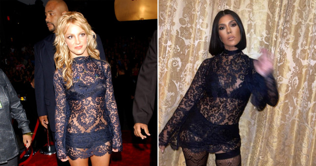 Kourtney Kardashian channels Britney Spears