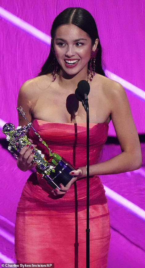 Big winner: Olivia Rodrigo had the biggest night at the 2021 MTV Video Music Awards on Sunday night, taking home three moon person awards... but Lil Nas X won the top honor, Video of the Year