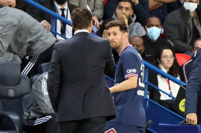 Lionel Messi was surprisingly taken on by Mauricio Pochettino against Lyon