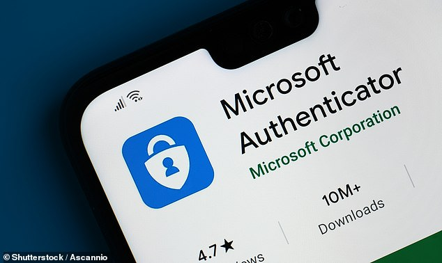 Microsoft has announced that all users can now go 'passwordless' — logging in to their accounts using other methods like fingerprints or authenticator apps (pictured) instead