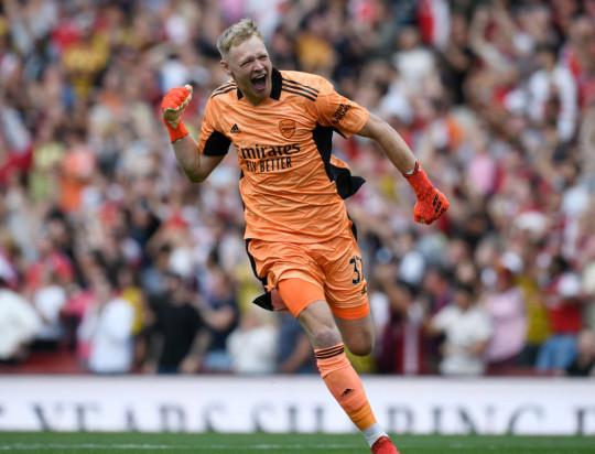 Arsenal goalkeeper Aaron Ramsdale