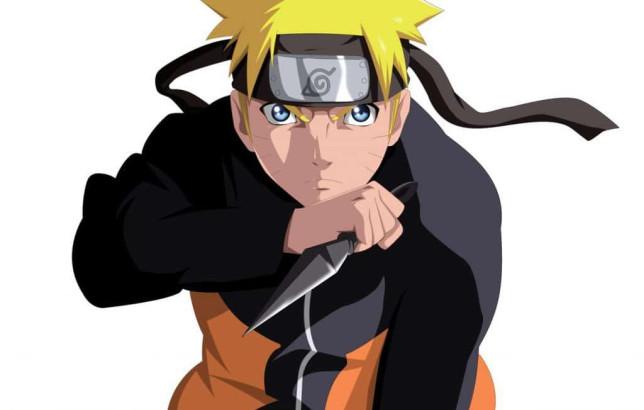 Naruto with kunai