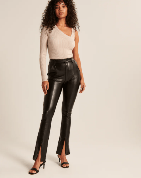 Abercrombie & Fitch black leather pants