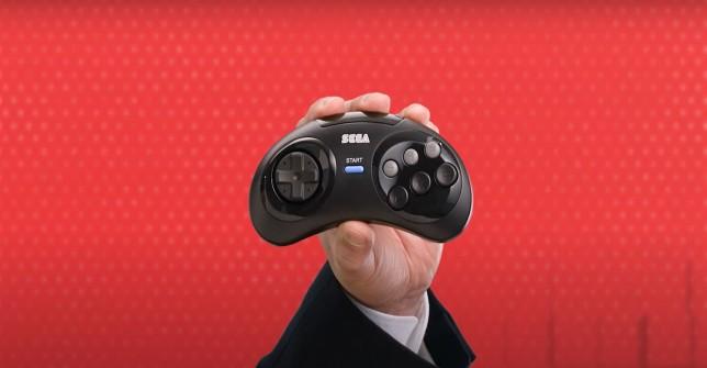 Sega Mega Drive wireless controller six buttons Nintendo Direct