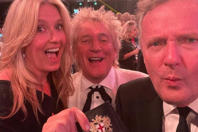 Penny Lancaster, Piers Morgan and Sir Rod Stewart