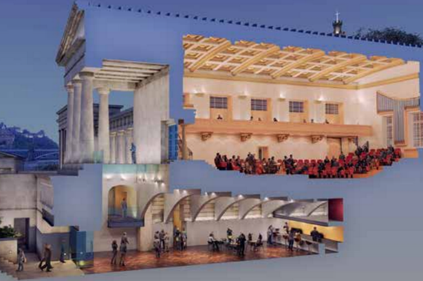The plans for the national music centre includes a concert hall