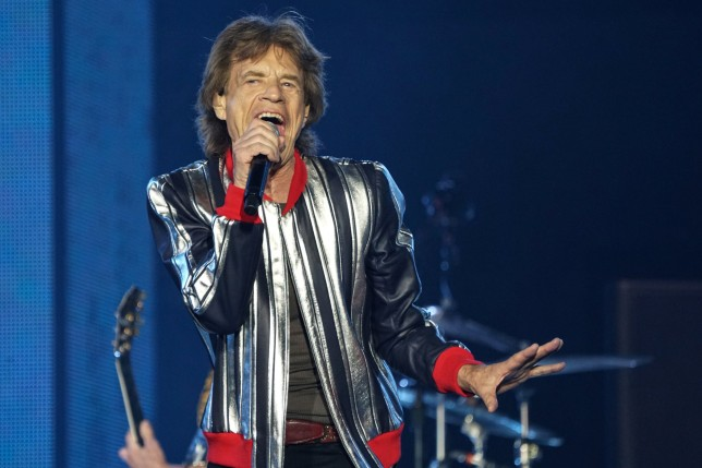 Lead singer Mick Jagger of The Rolling Stones kicks off their U.S. tour, a month after the death of drummer Charlie Watts, in St. Louis, Missouri, U.S. September 26, 2021. REUTERS/Lawrence Bryant
