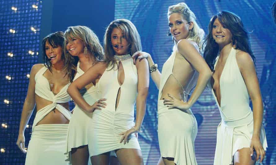 Girls Aloud at Wembley arena in 2004. From left: Kimberley Walsh, Nadine Coyle, Cheryl Tweedy, Sarah Harding and Nicola Roberts.