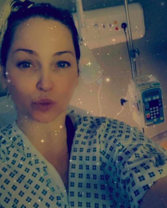 Sarah Harding in hospital