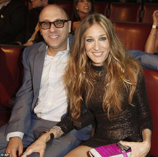Grieving:Sarah Jessica Parker is 'not ready' to speak on her late Sex And The City costar Willie Garson's sudden passing at the age of just 57; Parker and Garson pictured in 2008