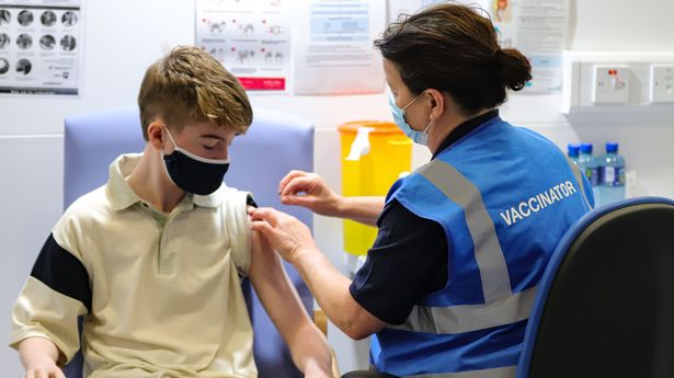 Younger teenagers will start getting their Covid jabs in schools