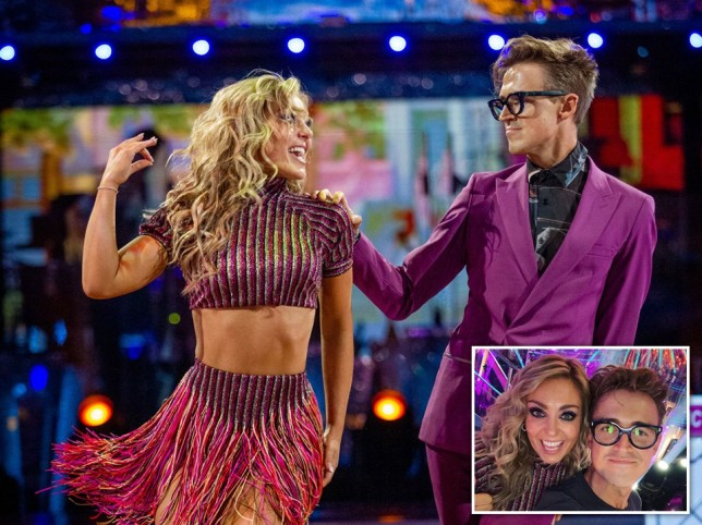 Tom Fletcher and Amy Dowden on Strictly Come Dancing
