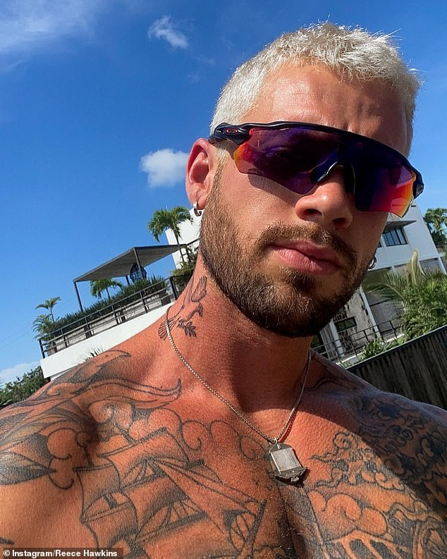 Taking a walk on the lighter side: Tammy Hembrow's ex Reece Hawkins debuted his dramatic new look this week after bleaching his hair