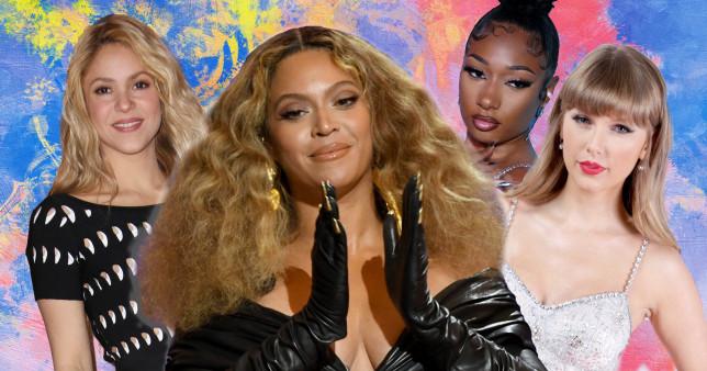 Shakira, Beyonce, Megan Thee Stallion and Taylor Swift