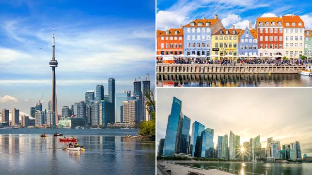 copenhagen, toronto and singapore