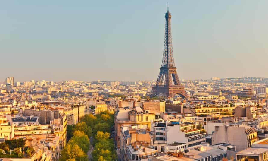 Eiffel Tower at sunset, Paris