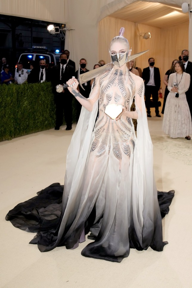 Grimes attends The 2021 Met Gala Celebrating In America: A Lexicon Of Fashion.