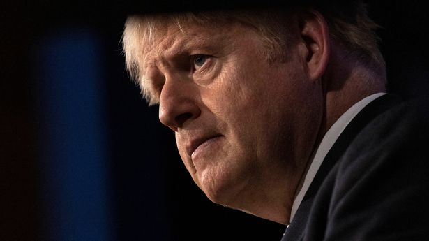 Britain's Prime Minister Boris Johnson holds a news conference about COVID-19 in the Downing Street Briefing Room in London, Britain, September 14, 2021