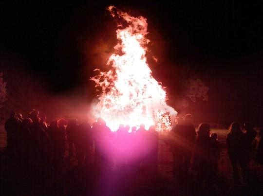 Guy Fawkes Bonfire Night at Lamberhurst in Kent