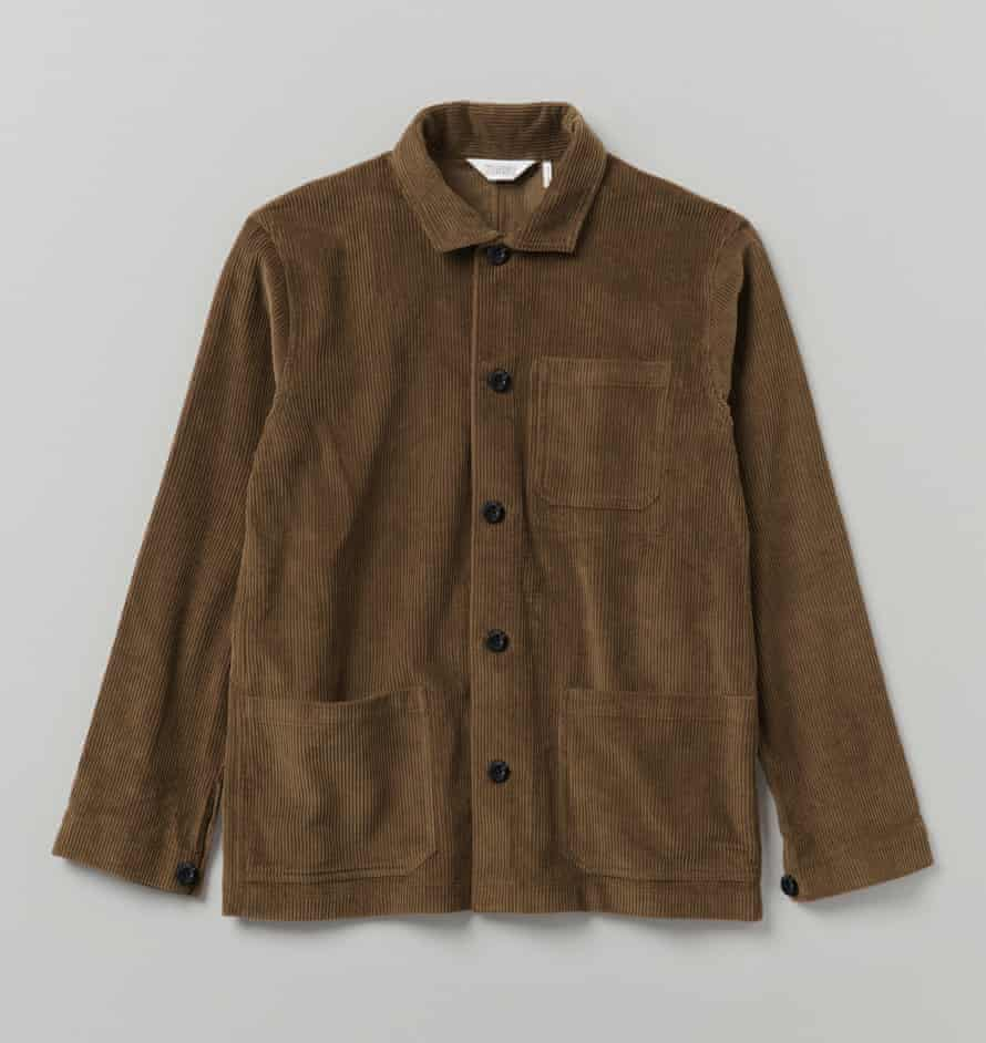 Corduroy point-collar jacket