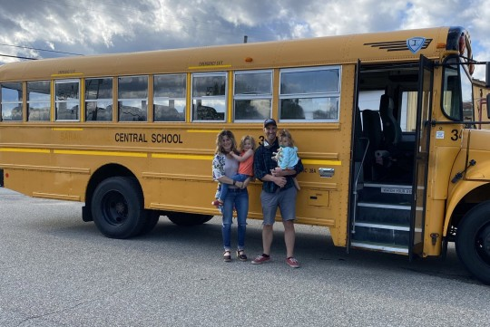 the school bus before its transformation