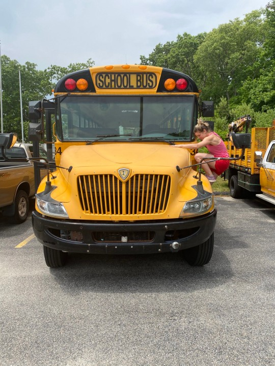 The school bus before the transformation