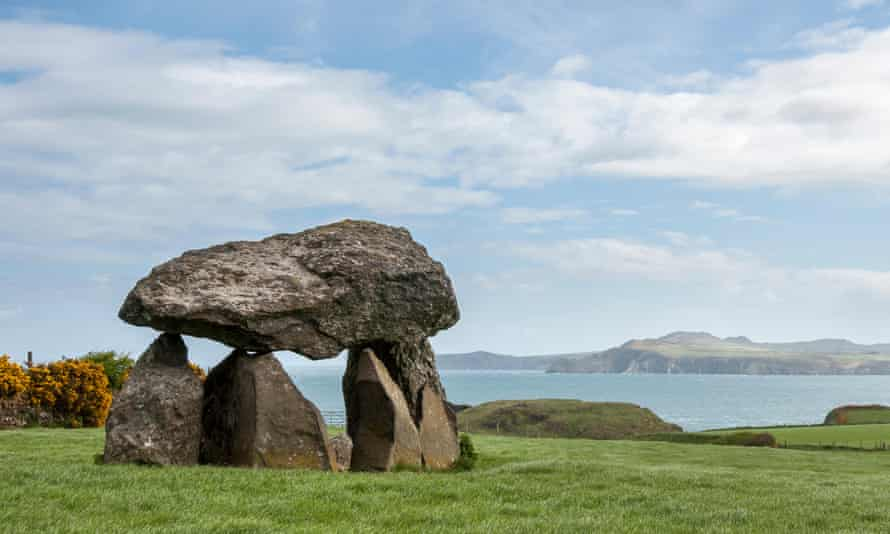 Carreg Samson, a Neolithic burial chamber near Abercastle on the coast of Pembrokeshire.