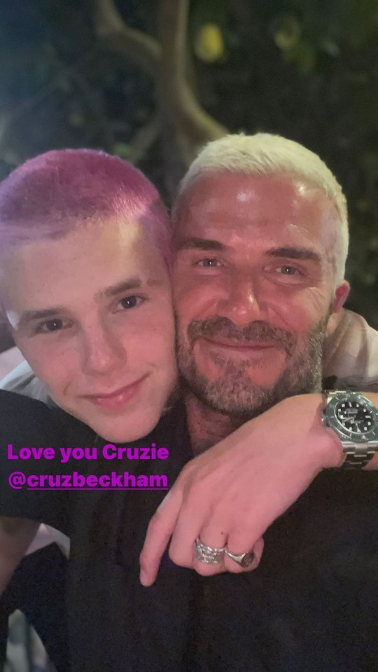 David beckham with Cruz