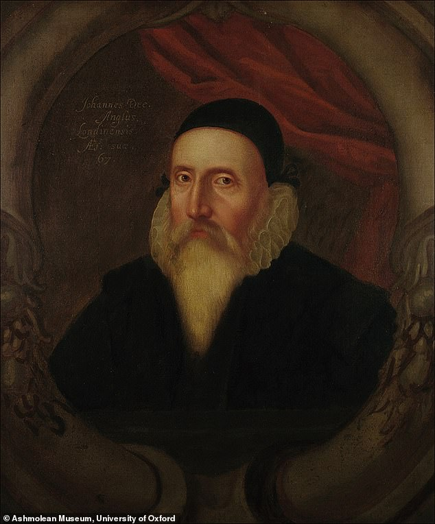 Among itemsJohn Dee (c. 1594, anonymous) used to 'speak to angels' was this mirror, crafted out of obsidian
