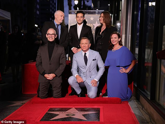 Presented:The 53-year-old actor was presented the honor by his No Time To Die co-star Rami Malek and longtime James Bond franchise producers Barbara Broccoli and Michael G. Wilson