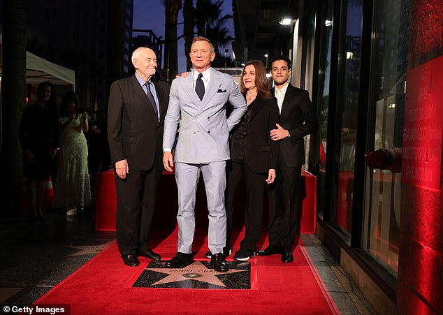 Fitting:'This star on Hollywood Boulevard is a fitting cap to your amazing run as Bond, 'Wilson said