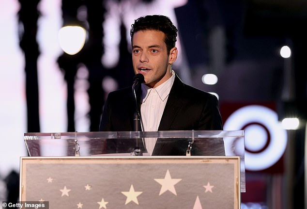 Rami:Malek plays the nefarious Lyutsifer Safin in No Time to Die, stating he was, 'so proud to be here celebrating Daniel Craig's star on the Walk of Fame'